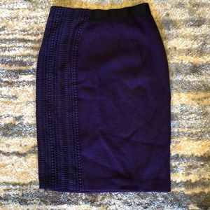 Deep Purple Elie Tahari Pencil Skirt